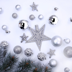 Sada 100 vánočních ozdob DecoKing Star