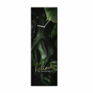 Nástěnné hodiny Styler Glassclock Believe, 20 x 60 cm