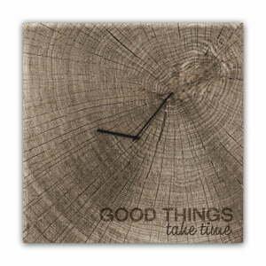 Nástěnné hodiny Styler Glassclock Good Times, 30 x 30 cm