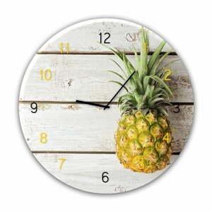 Nástěnné hodiny Styler Glassclock Pineapple, ⌀ 30 cm