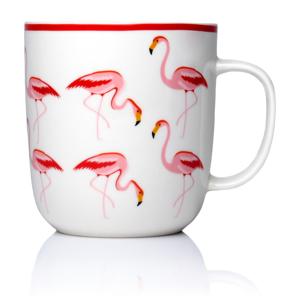 Hrnek z kostního porcelánu Sabichi Flamingo, 450 ml