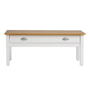 Bílý konferenční stolek z masivního borovicového dřeva Marckeric Jade
