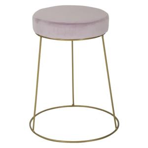 Růžová stolička s železnou konstrukcí ve zlaté barvě Mauro Ferretti Ring