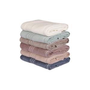 Sada 6 bavlněných ručníků Micro Cotton, 50 x 90 cm
