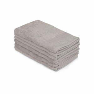 Sada 6 šedých bavlněných ručníků Madame Coco Lento Gris, 30 x 50 cm