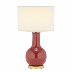 Stolní lampa s červenou základnou Safavieh Charlie