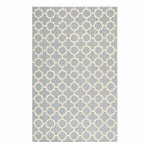 Šedý vlněný koberec Safavieh Bessa, 243 x 152 cm