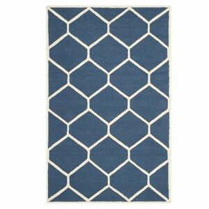 Tmavě modrý vlněný koberec Safavieh Lulu 121x182cm