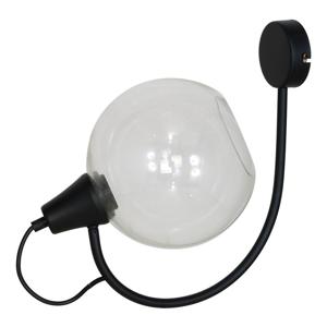 Černé nástěnné svítidlo Glimte Arbuz Black Uno