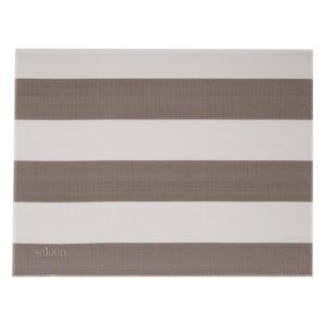 Béžovo-bílé pruhované prostírání Saleen Stripy