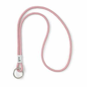 Světle růžová šňůrka na krk Pantone