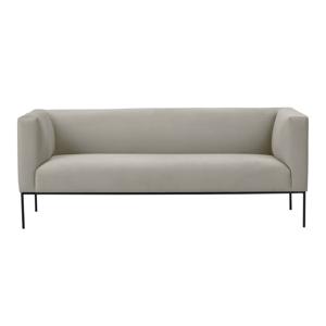 Béžová sametová pohovka Windsor & Co Sofas Neptune, 195 cm