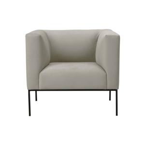 Béžové sametové křeslo Windsor & Co Sofas Neptune