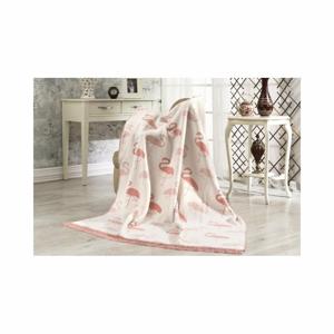 Deka s příměsí bavlny Aksu Flamingo, 220x180cm