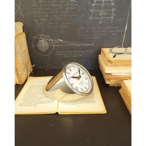 Stolní ocelové hodiny Orchidea Milano Davide, výška 10 cm