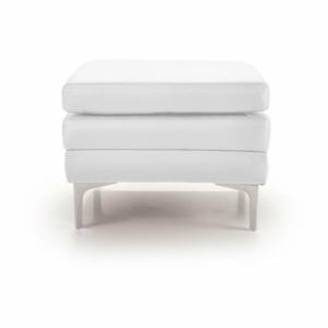 Bílá kožená lavice Scandic Twigo