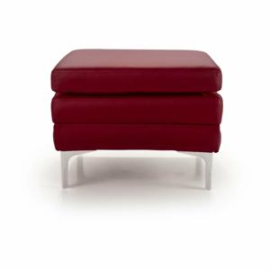 Červená kožená lavice Scandic Twigo