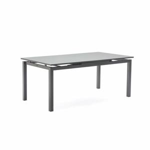 Tmavě šedý rozkládací zahradní stůl pro 8-10 osob Ezeis Zephyr, délka 180/230 cm