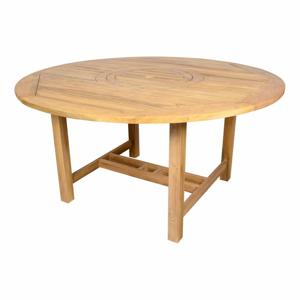 Zahradní jídelní kulatý stůl z teakového dřeva Ezeis Sun, ø 150 cm