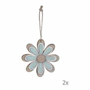 Sada 2 závěsných dekorací ve tvaru květiny EgoDekor, ø9,5cm