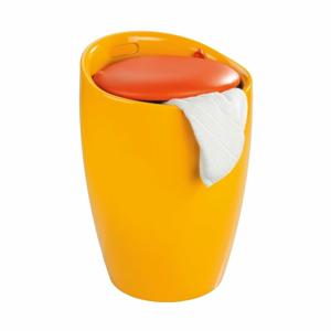 Žlutý koš na prádlo a taburetka v jednom Wenko Candy, 20 l