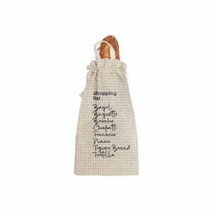 Látkový vak na chléb s příměsí lnu Linen Couture Bag Shopping, výška 42 cm