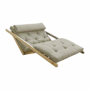 Dvoumístná variabilní lenoška Karup Design Figo Natural Clear/Linen Beige