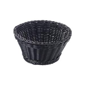 Černý stolní košík Saleen, ø 18cm