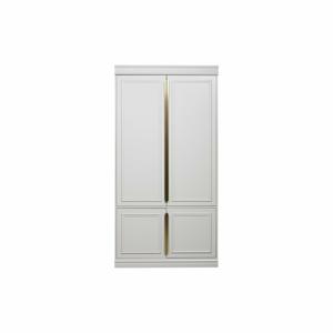 Bílá šatní skříň z masivního borovicového dřeva BePureHome, šířka44cm
