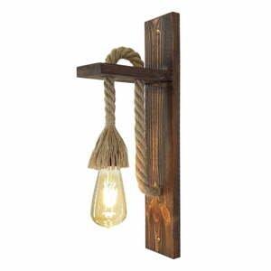 Dřevěné nástěnné svítidlo Ahsap