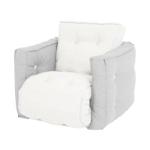 Dětské rozkládací křesílko Karup Design Mini Dice Light Grey