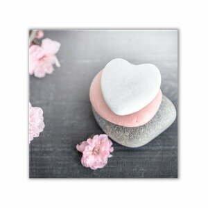 Obraz Styler Glasspik Spa & Zen Heart Stone, 30 x 30 cm