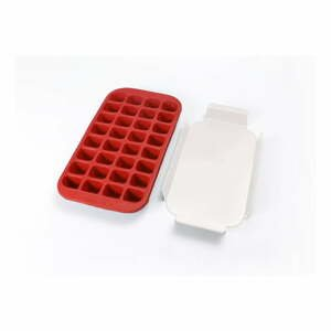 Červená silikonová forma na led Lékué Industrial, 32 kostek