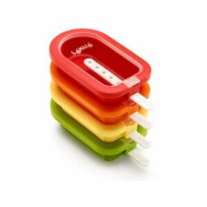 Sada 4 malých barevných silikonových forem na zmrzlinu Lékué