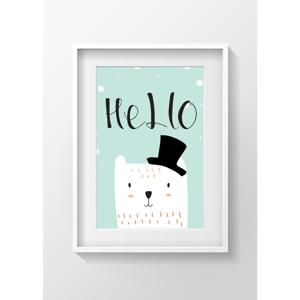 Obraz Tablo Center Hello Cat, 24x29cm