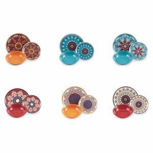 18dílná sada barevného nádobí z porcelánu a kameniny Villa'd Este Shiraz