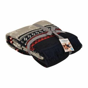 Červená deka s příměsí bavlny Aksu Carmelo, 200 x 150 cm