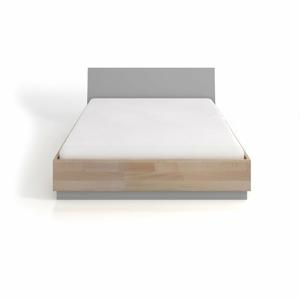 Dvoulůžková postel s úložným prostorem z bukového a borovicového dřeva SKANDICA Finn BC, 180 x 200 cm