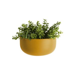 Matně okrově žlutý nástěnný keramický květináč PT LIVING Nest