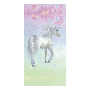 Plážová osuška s potiskem Good Morning Unicorn, 75 x 150 cm