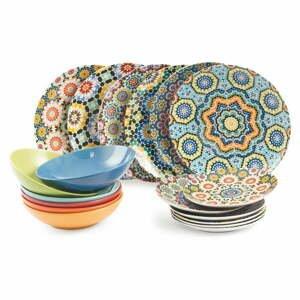 18dílný porcelánový set nádobí Villa d'Este Marrakech