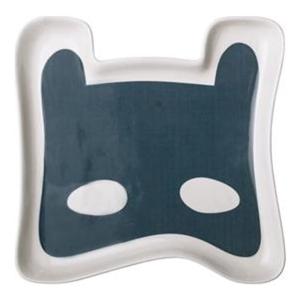 Modrý dětský talíř z kameniny Bloomingville Superhero