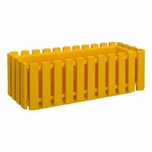 Žlutý truhlík Gardenico Fency System, délka 75cm