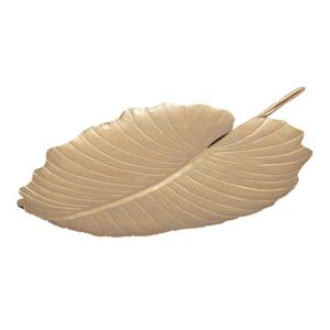 Dekorace ve zlaté barvě Mauro Ferretti Leaf, 35,5x23cm