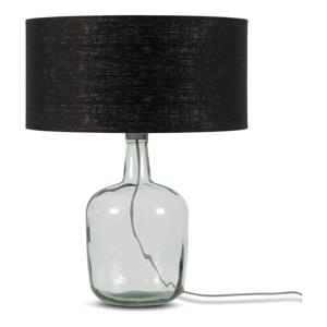 Stolní lampa s černým stínidlem a konstrukcí z recyklovaného skla Good&Mojo Murano, ⌀47cm