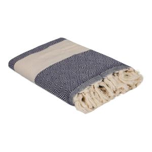 Modrý bavlněný ručník Elmas, 180 x 100 cm
