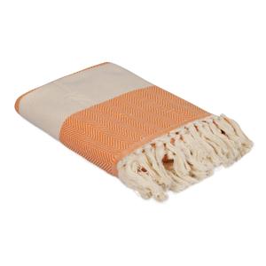 Oranžový ručník Ocean, 180 x 100 cm