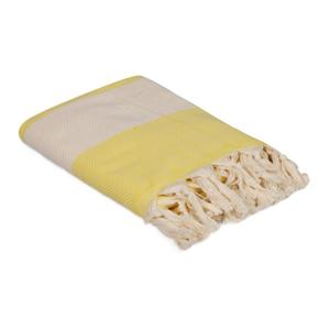 Žlutý ručník Ocean, 180 x 100 cm