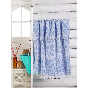 Modrý ručník Varak, 180 x 100 cm