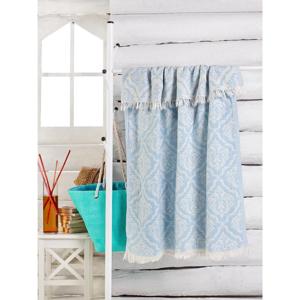 Světle modrý ručník Varak, 180 x 100 cm